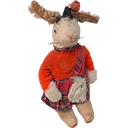 Unusual Highland Dressed Rabbit c1930