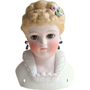 Kling Doll's Head #135 Moulded flower Detail c1890