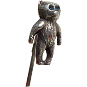 Sterling Silver Teddy Bear Hatpin HM 1909