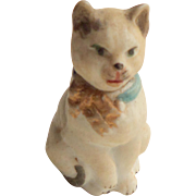 Tiny Bisque Cat Novelty c1910