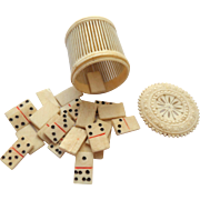Novelty Box Miniature Dominoes c1890