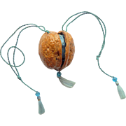 Walnut Shell With Rosary c1910