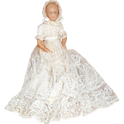 Early Beeswax Baby Doll Attic Condition c1830