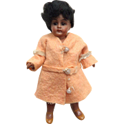 *Hold for J* Sweet Mulatto Bisque Head Doll c1910