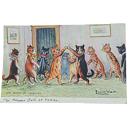 Louis Wain Cat Postcard Sir Roger De Coverley 1907