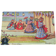 Louis Wain Cat Postcard Flowers Of Japan 1908