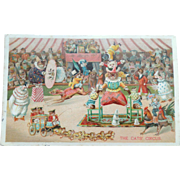 Louis Wain Cat Postcard The Cats Circus 1905