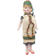 Hertwig All Bisque Flapper Dolls House Doll