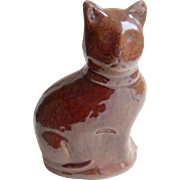 Treacle Glaze Cat Money Box 19th Century