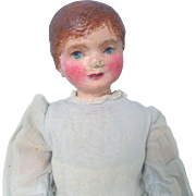 Prim Doll Handpainted Face Cloth Body c1915