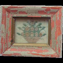 Miniature Antique Sampler For Dolls House