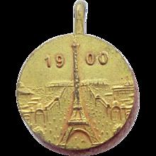 Tiny 1900 Paris Exposition Souvenir Pin Cushion