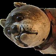 Rare Schoehut Glass Eye Brindled Bulldog