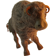 Schoenhut Glass Eye Cloth Mane Buffalo
