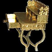 Antique ormolu miniature Erhard & Söhne Dollhouse Writing desk