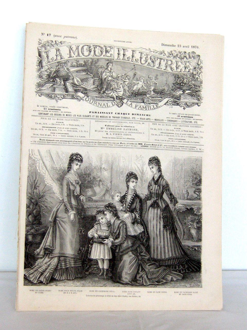 """19th Century """"La Mode Illustrée, journal de la famille"""""""