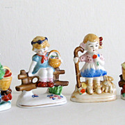 Porcelain Vintage Handpainted Children Figurines
