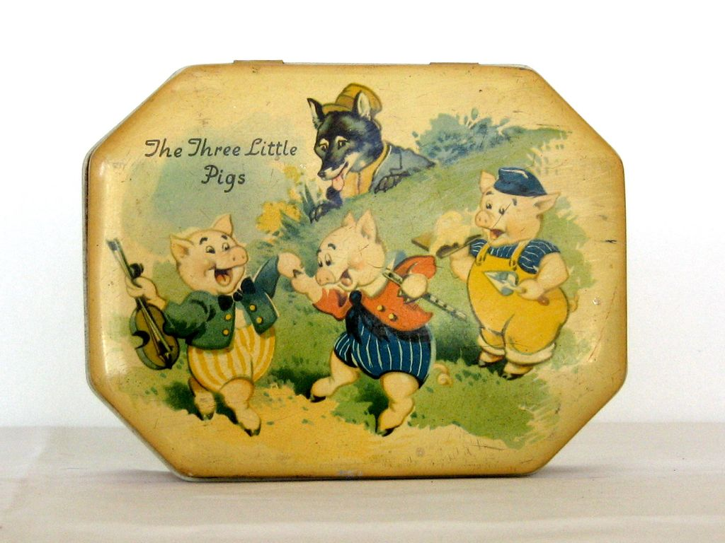 1960' - 70 s Original Coted'Or Tree Little Pigs Tin