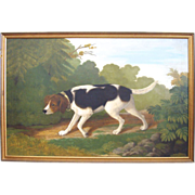 19thC Oil On Canvas of Hunting Hound by Laubenheimer