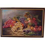 19th C Oil on Canvas Still Life by J. Hamill