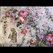 Vintage Floral Chintz Fabric Yardage