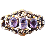 Antique Georgian Pin with Amethyst Stones