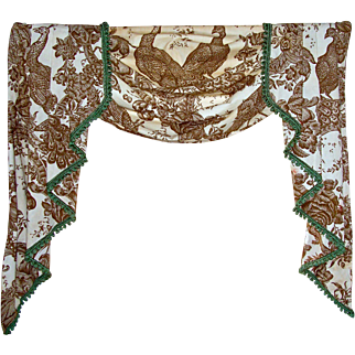 Vintage Pair of Swag and Jabot Valances.
