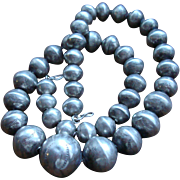 Early Navajo Graduated Silver Bead Necklace