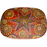 Scandinavian Oval Covered Box with Star Decoration