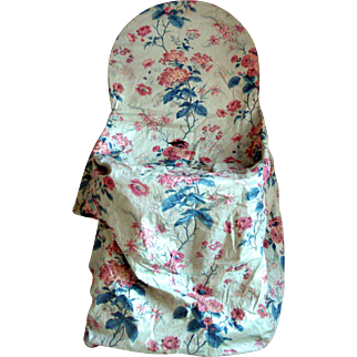 Beautiful 19th Century Floral Chintz Slip Cover