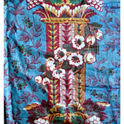 19th Century Chintz  Panel in Vivid Colors