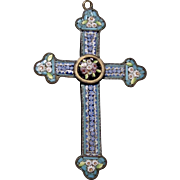 Beautiful Micro Mosaic Cross Pendant