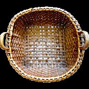 Antique  Splint Handled  Drying Basket