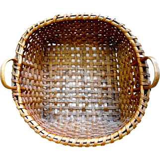 Antique  Splint Handled  Drying Basket
