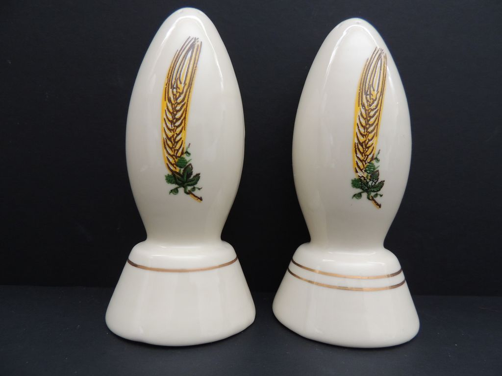 Coors Porcelain Pottery Salt Pepper Shakers From