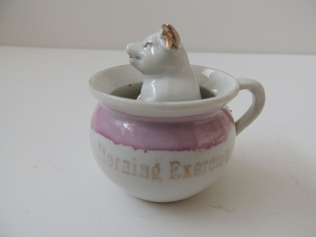 Porcelain Pig In A Cup