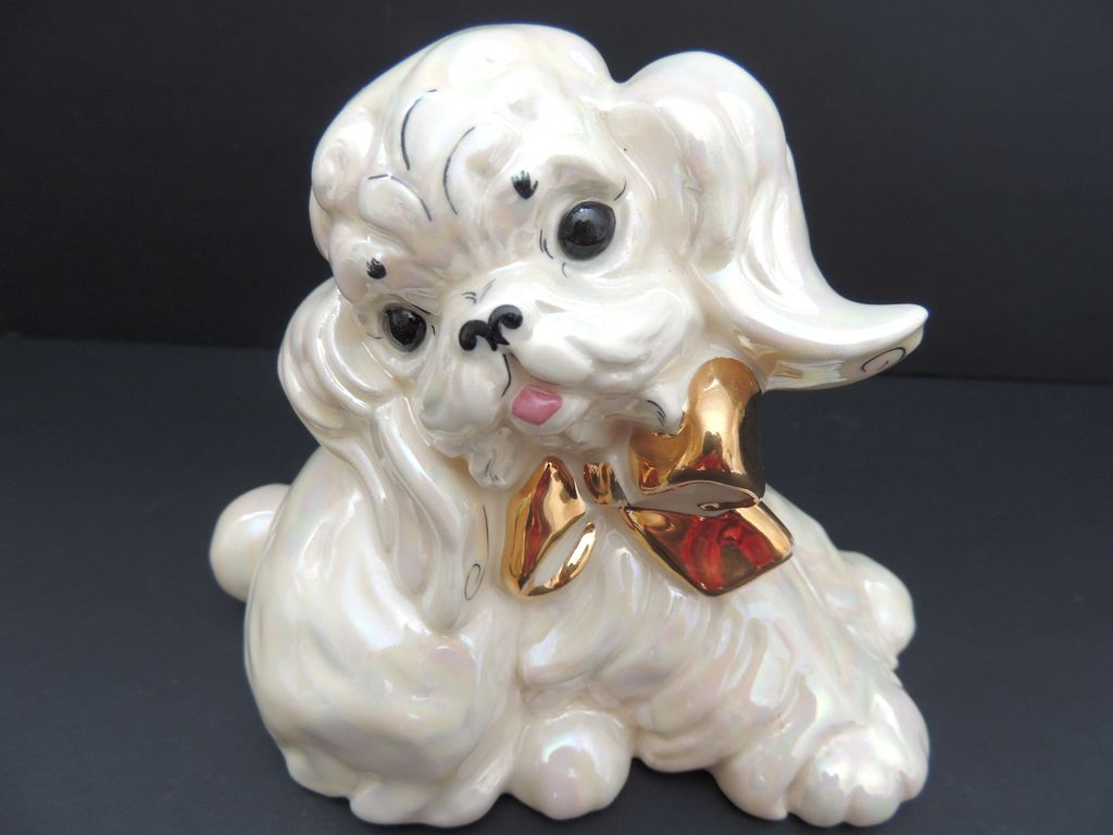 Vintage Kay Finch Poodle Figurine From Handtoheartantiques