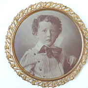 Portrait/Picture On Tin Of Charming Child - Red Tag Sale Item