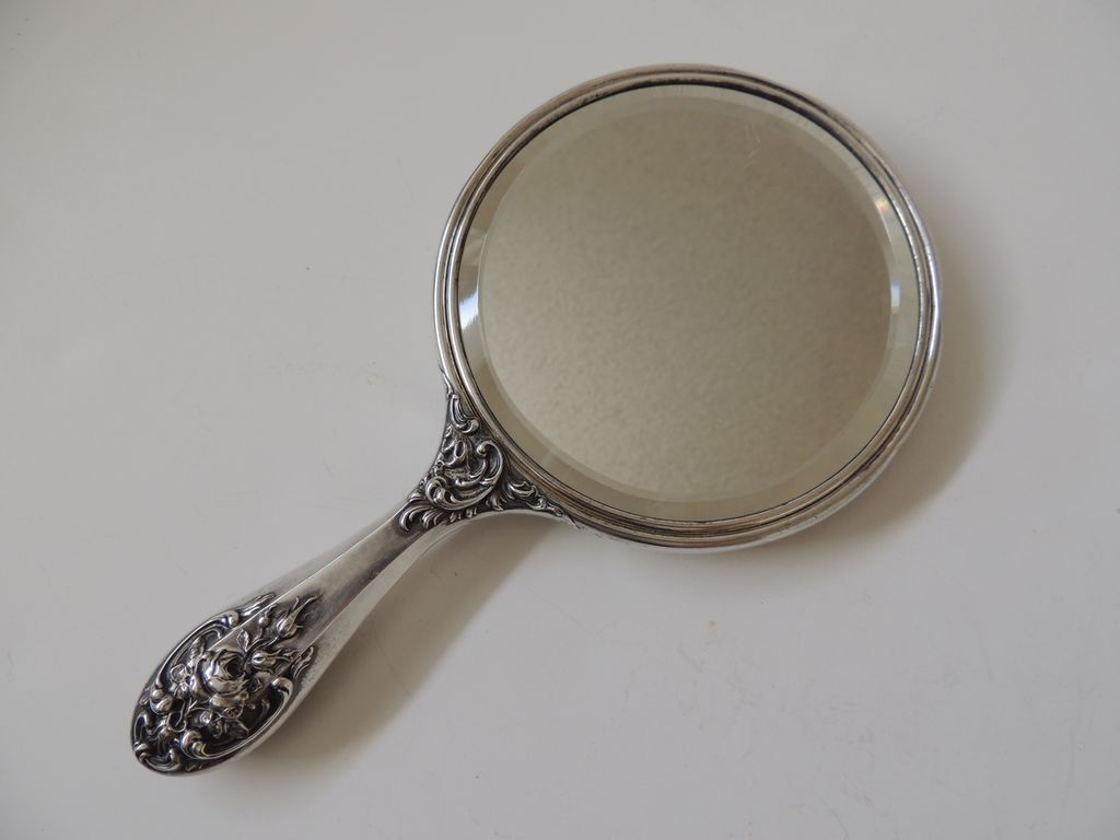 Sterling silver hand mirror foster bailey from for Mirror of mirror