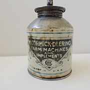 McCormick Deering Advertising Oil Can