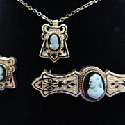 Antique Brooch, Necklace, and Collar Pin