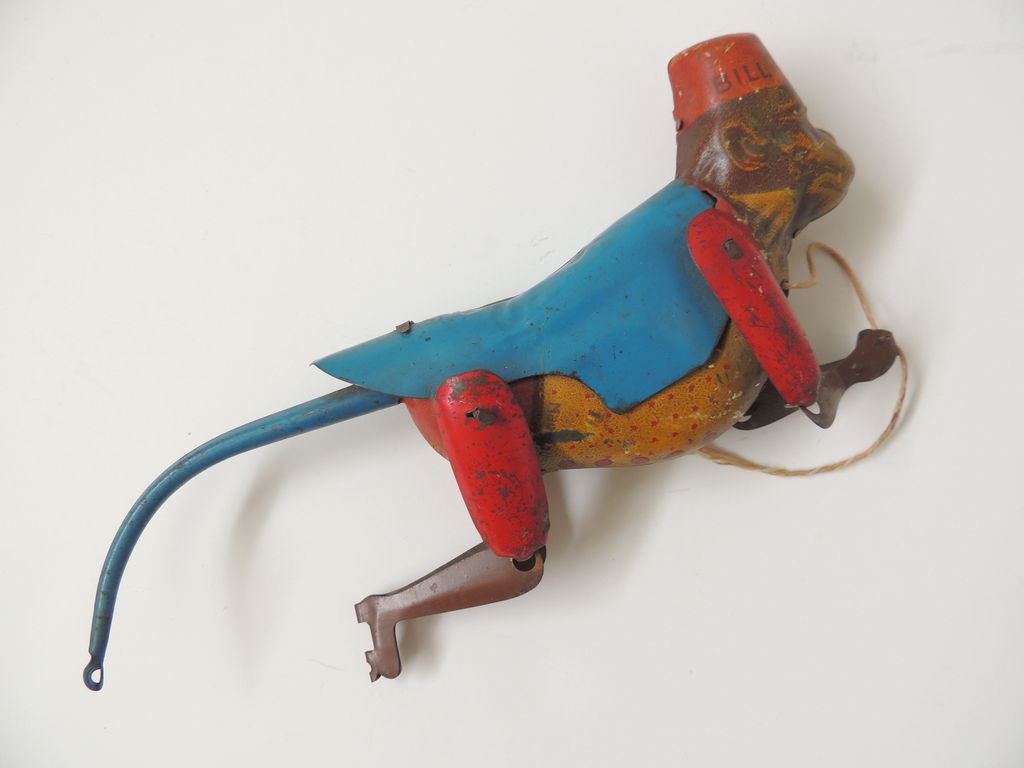 Lindstrom climbing monkey tin toy from handtoheartantiques for Lindstrom