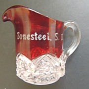 Ruby Flash Souvenir Creamer Bonesteel South Dakota