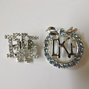 2 Vintage Ike Political Jewelry Pins