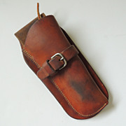 Vintage Leather Heiser Side Gun Holster
