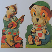 Vintage Germany Mechanical Valentines