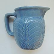 Blue Stoneware Creamer Pitcher