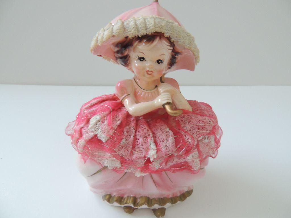 Ucagco girl with umbrella trinket box figurine from - Robot de cocina lady master future ...