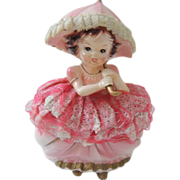 Ucagco Girl With Umbrella Trinket Box Figurine - Red Tag Sale Item