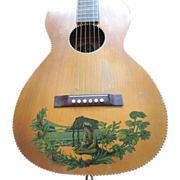 Vintage Supertone Parlor Guitar Waikiki Model